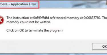WerFault.exe Application Error