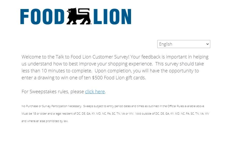 Talk To Foodlion